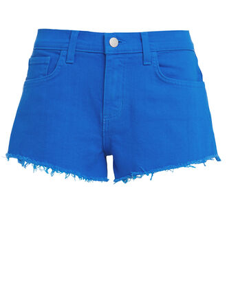 Audrey Cut-Off Denim Shorts, BLUE-MED, hi-res