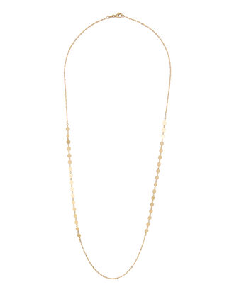 Side Disc Layering Necklace, GOLD, hi-res