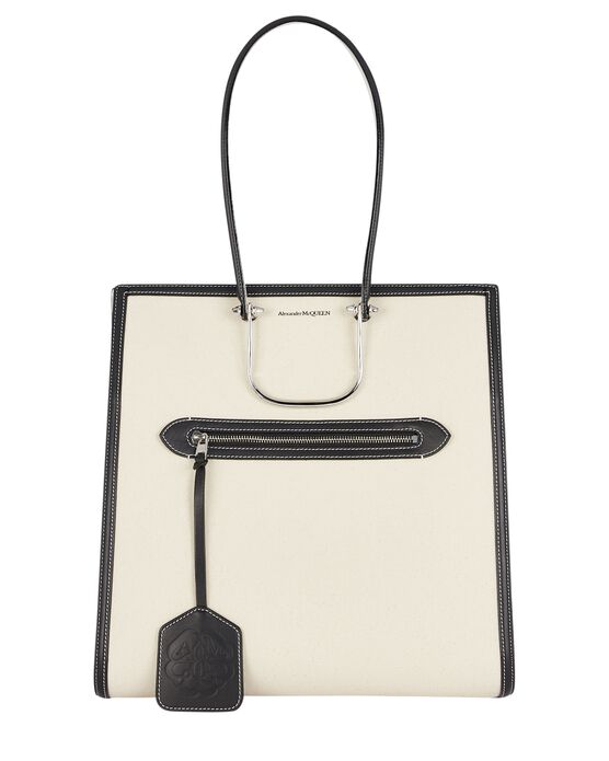 Alexander Mcqueen Leathers The Tall Story Canvas Tote