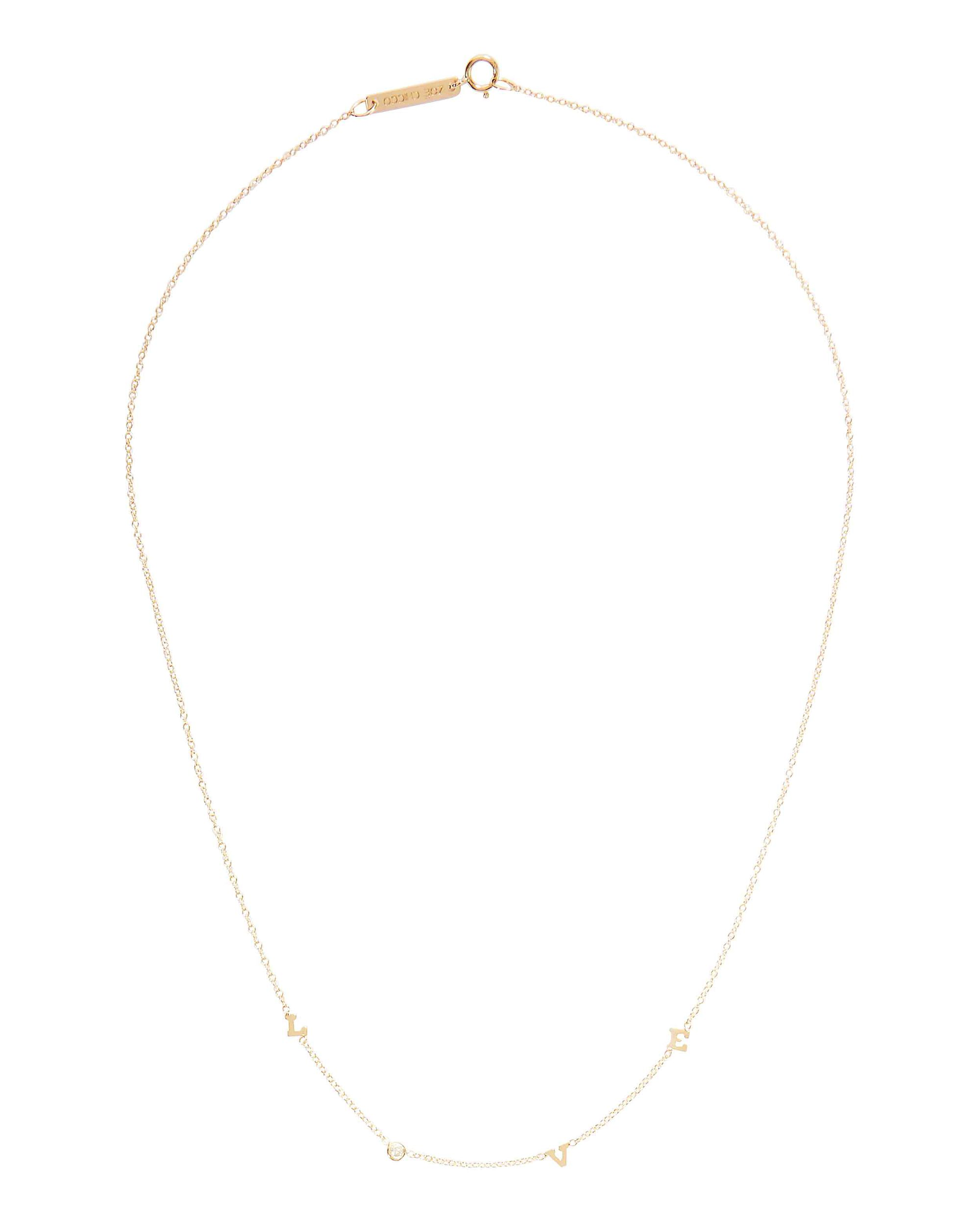 Tiny Love Necklace, GOLD, hi-res