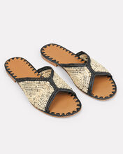 Salon Flat Sandals, BEIGE, hi-res