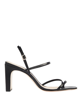 Amaia Slingback Leather Sandals, BLACK, hi-res