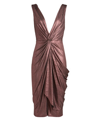 Sass Twisted Plissé Dress, AMETHYST, hi-res