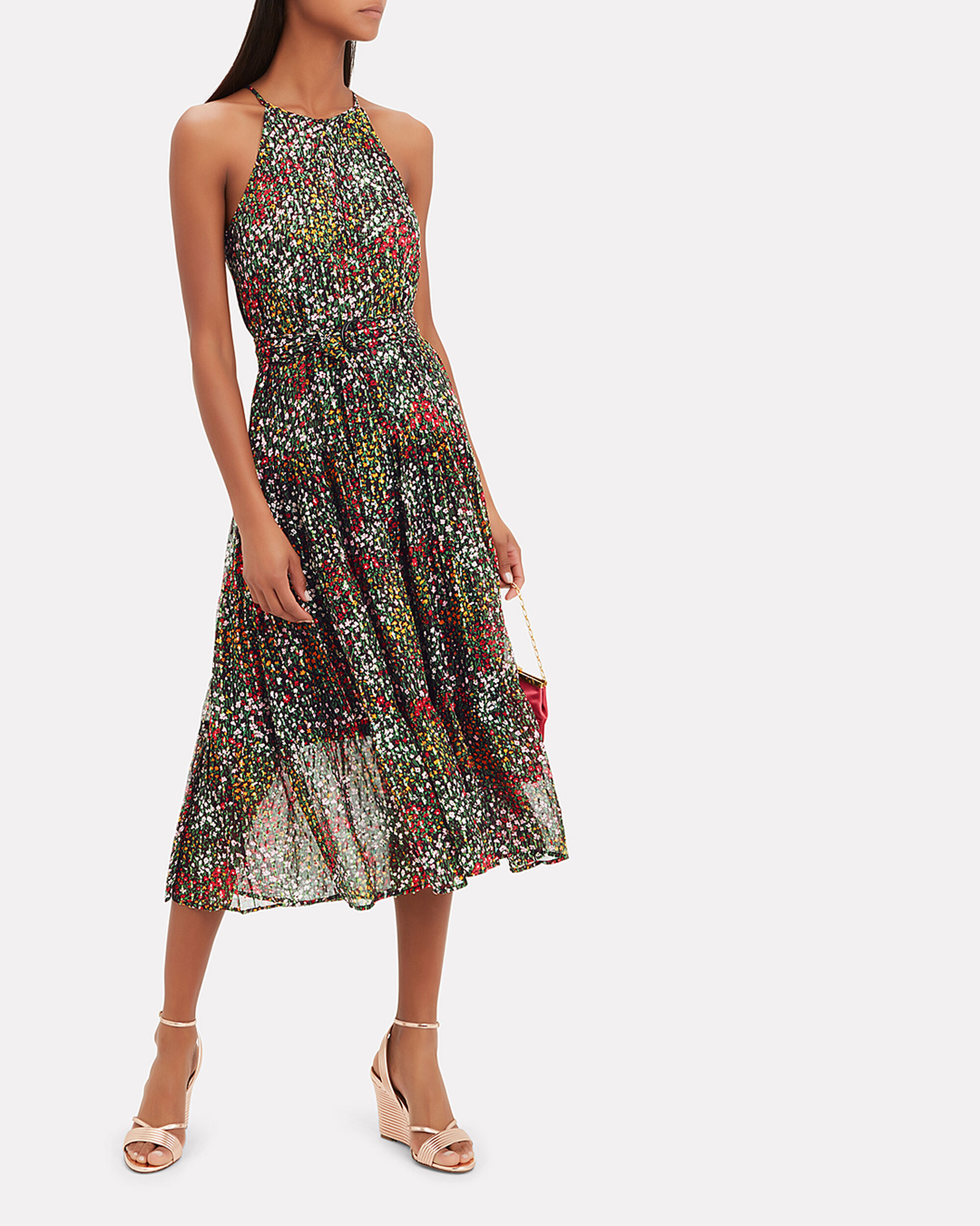 Richards Halter Dress, DARK FLORAL, hi-res
