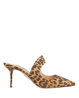 Forever Leopard Suede Mules, LEOPARD, hi-res