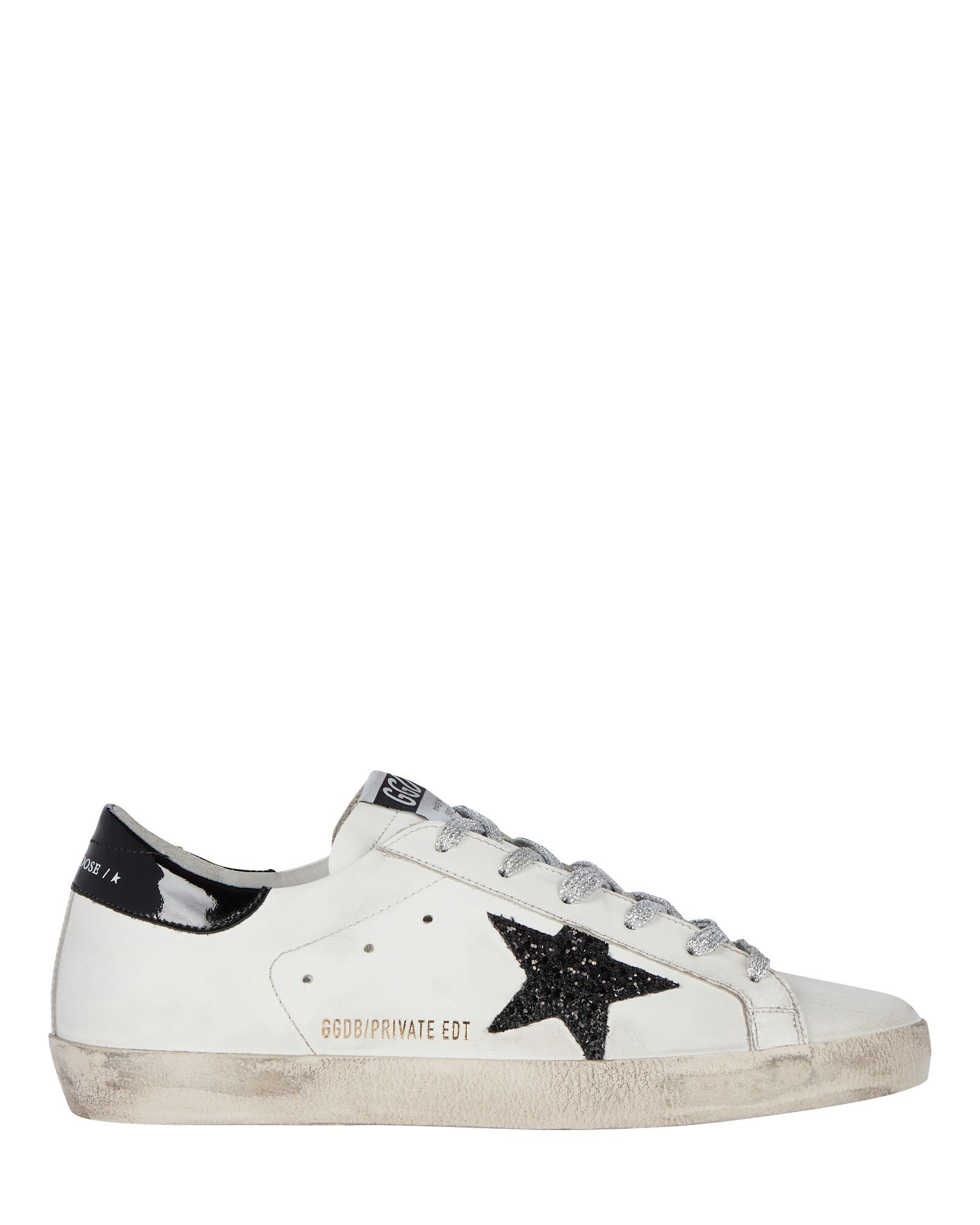Superstar Low-Top Leather Sneakers, BLACK/WHITE, hi-res