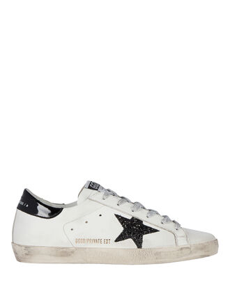 Superstar Low-Top Leather Sneakers, BLK/WHT, hi-res
