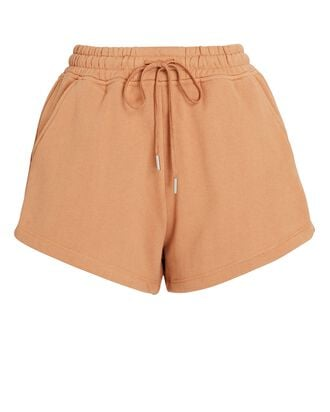 Evie Terry Sweat Shorts, LIGHT BROWN, hi-res