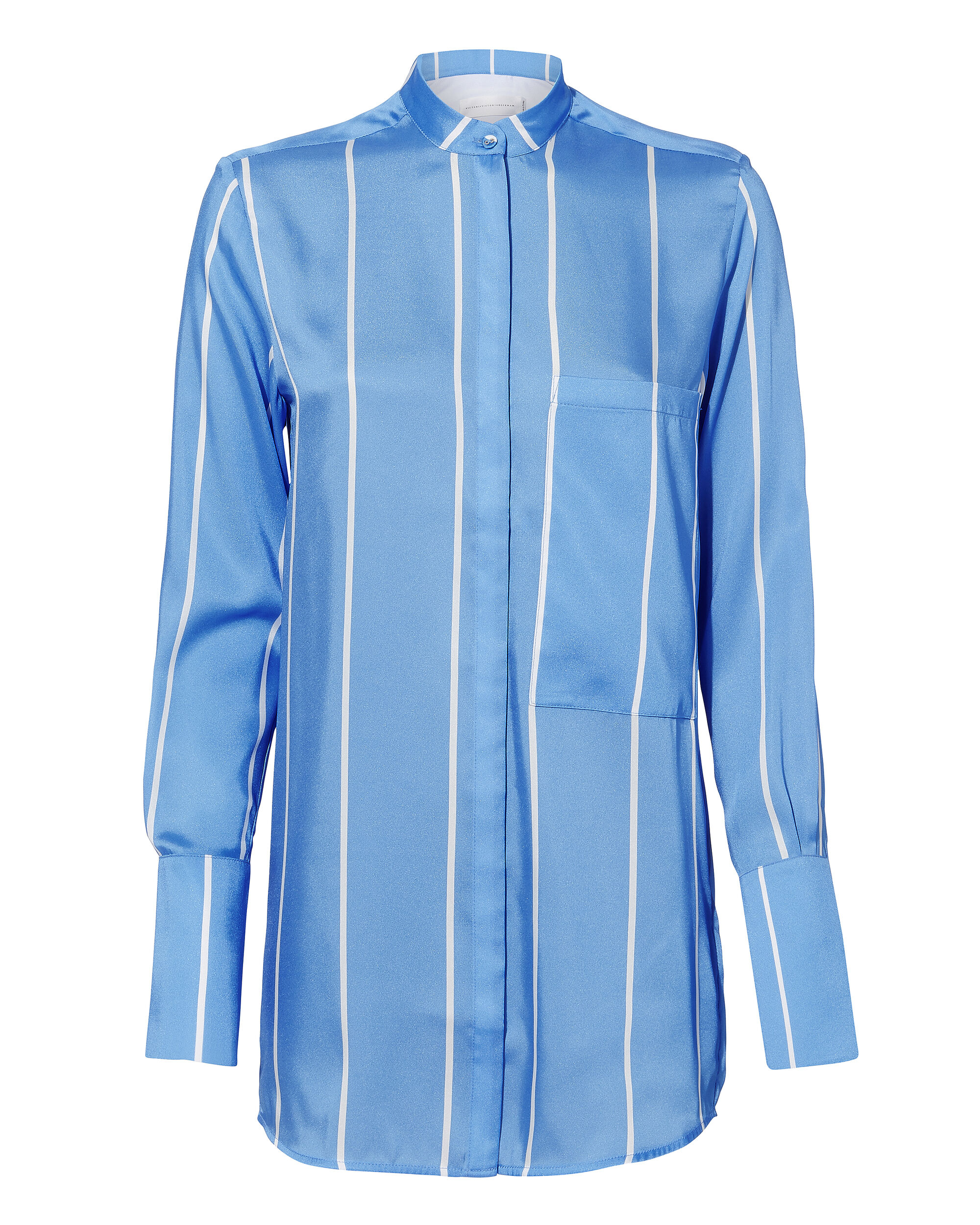 Striped Silk Top, BLUE-MED, hi-res