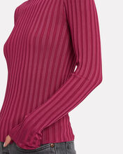 Nellie Rib Knit Turtleneck, FUCHSIA, hi-res