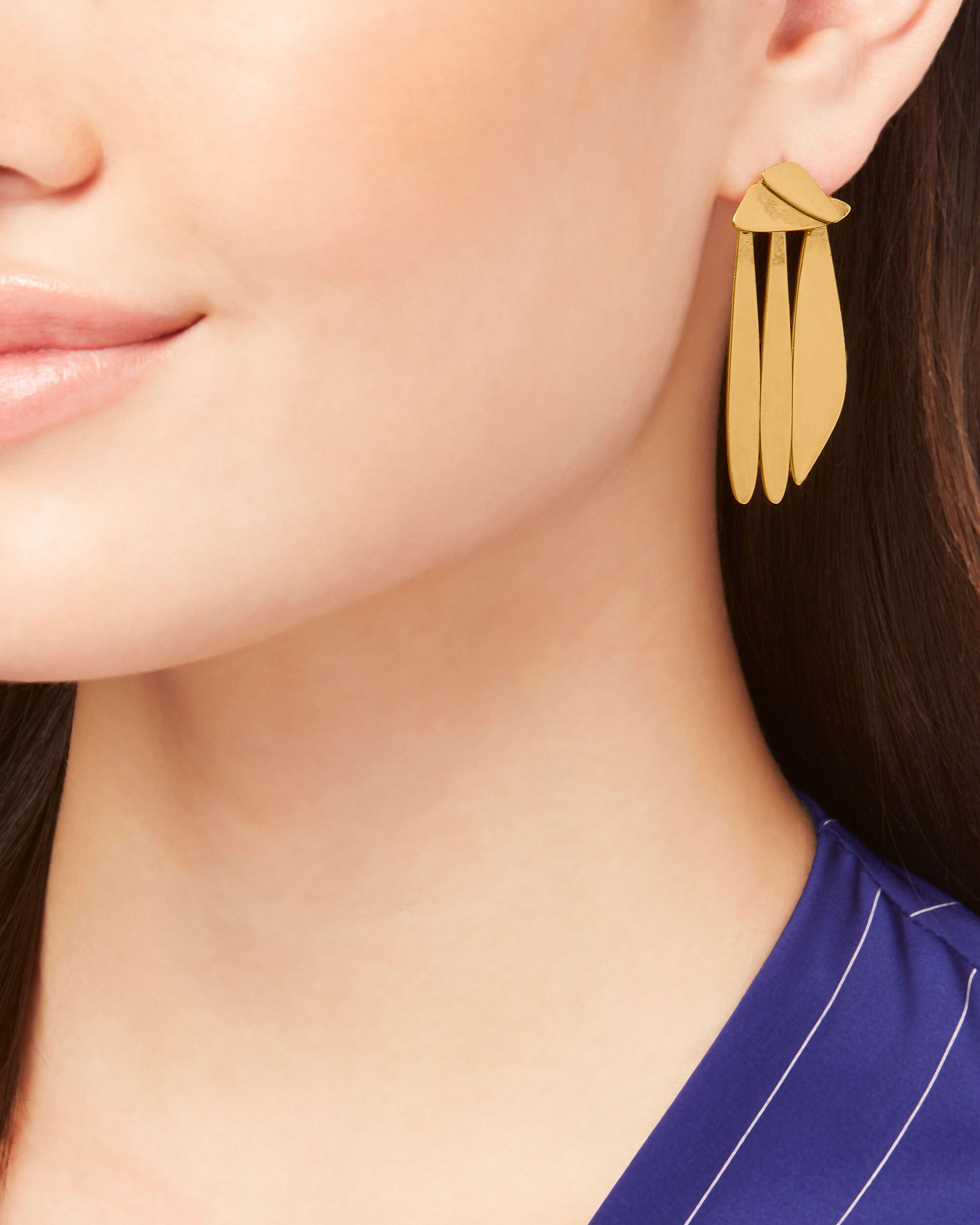 Gold Sail Earrings, GOLD, hi-res