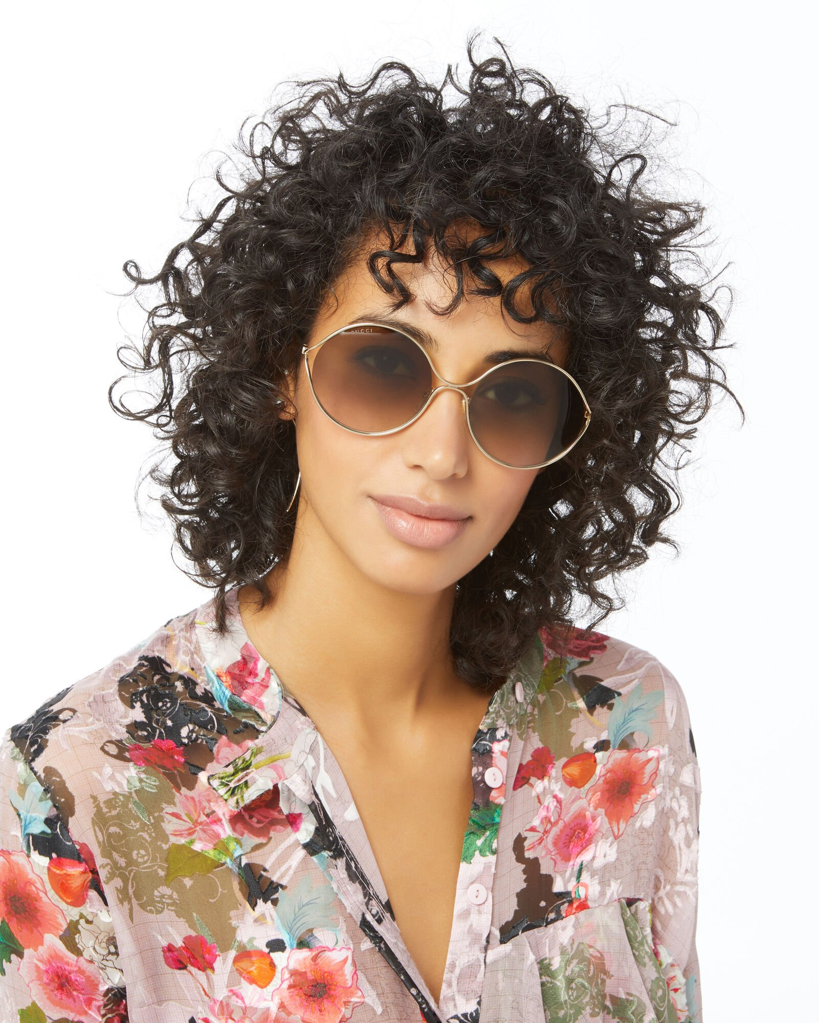 Oval Metal Sunglasses, GOLD, hi-res