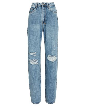 Playback Distressed Straight-Leg Jeans, VIBEZ THRASHED, hi-res