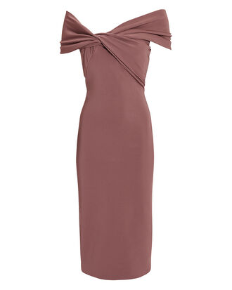 Twist Top Pencil Dress, BLUSH, hi-res