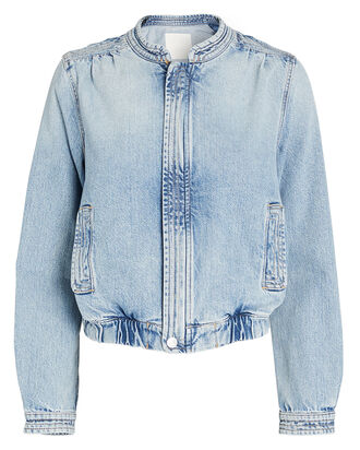 The Quad Denim Bomber Jacket, , hi-res