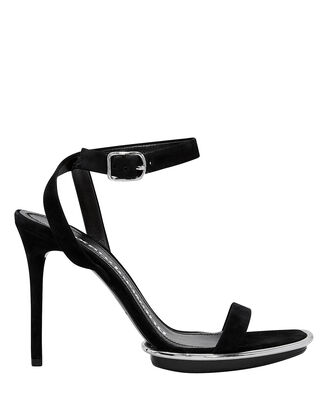Cady Suede High Sandals, BLACK, hi-res