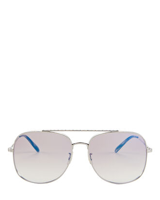 Taron Double Bridge Sunglasses, BEIGE, hi-res