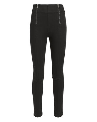 Double Zip Skinny Jeans, BLACK, hi-res