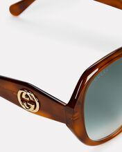 Oversized Octagonal Sunglasses, BROWN, hi-res