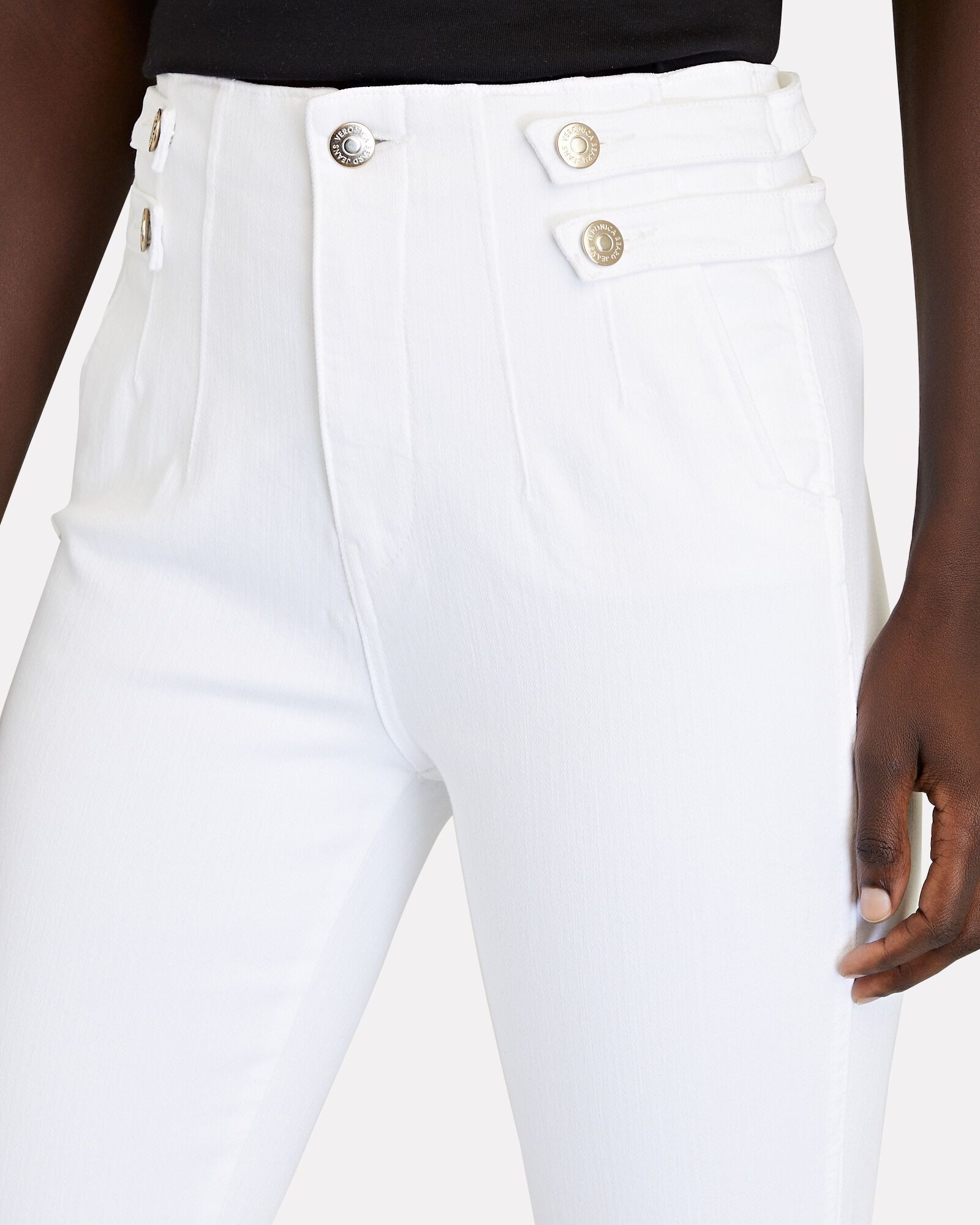 Beverly Flared High-Rise Jeans, WHITE, hi-res