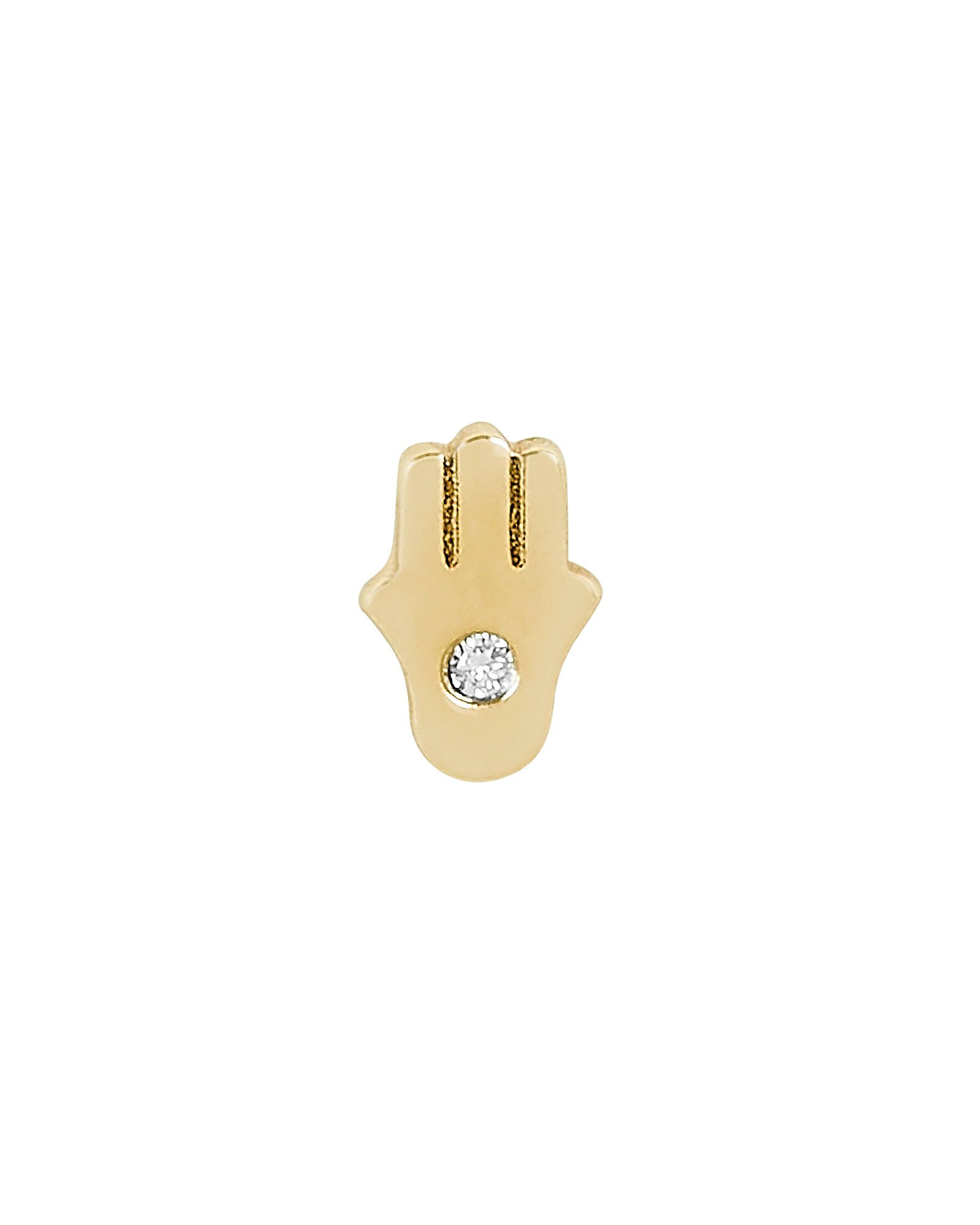 Hamsa Single Stud Earring, GOLD, hi-res