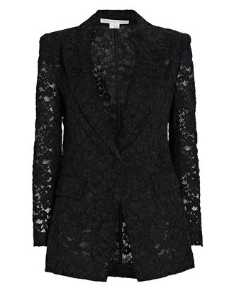 Long and Lean Lace Dickey Blazer, BLACK, hi-res