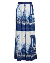 Ionic Tapestry Wide-Leg Pants, NAVY/WHITE, hi-res