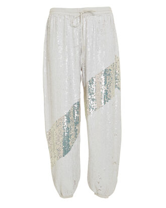 Stacia Sequin Joggers, WHITE/SILVER, hi-res