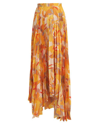 Hooper Pleated Maxi Skirt, MULTI, hi-res