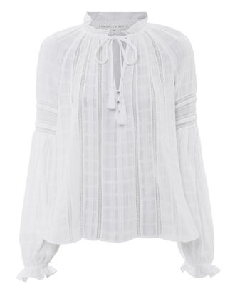 Kalina Blouse, WHITE, hi-res