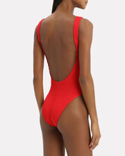Mara Baywatch Red One Piece Swimsuit, RED, hi-res