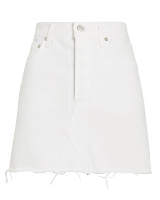 Quinn High-Rise Skirt, WHITE, hi-res