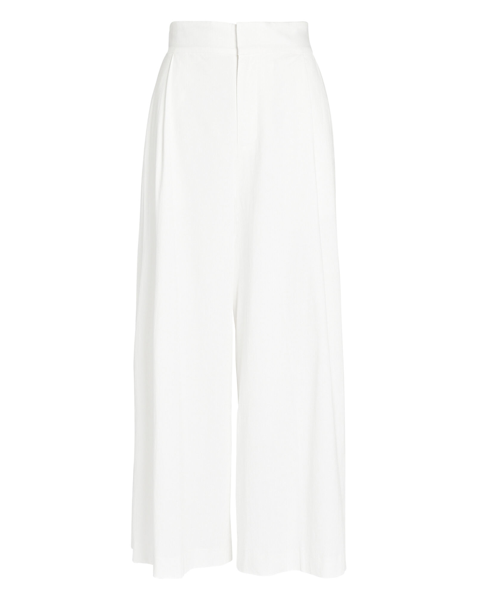 Claudine Wide-Leg Pants, WHITE, hi-res
