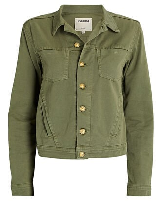 Celine Denim Jacket, OLIVE/ARMY, hi-res