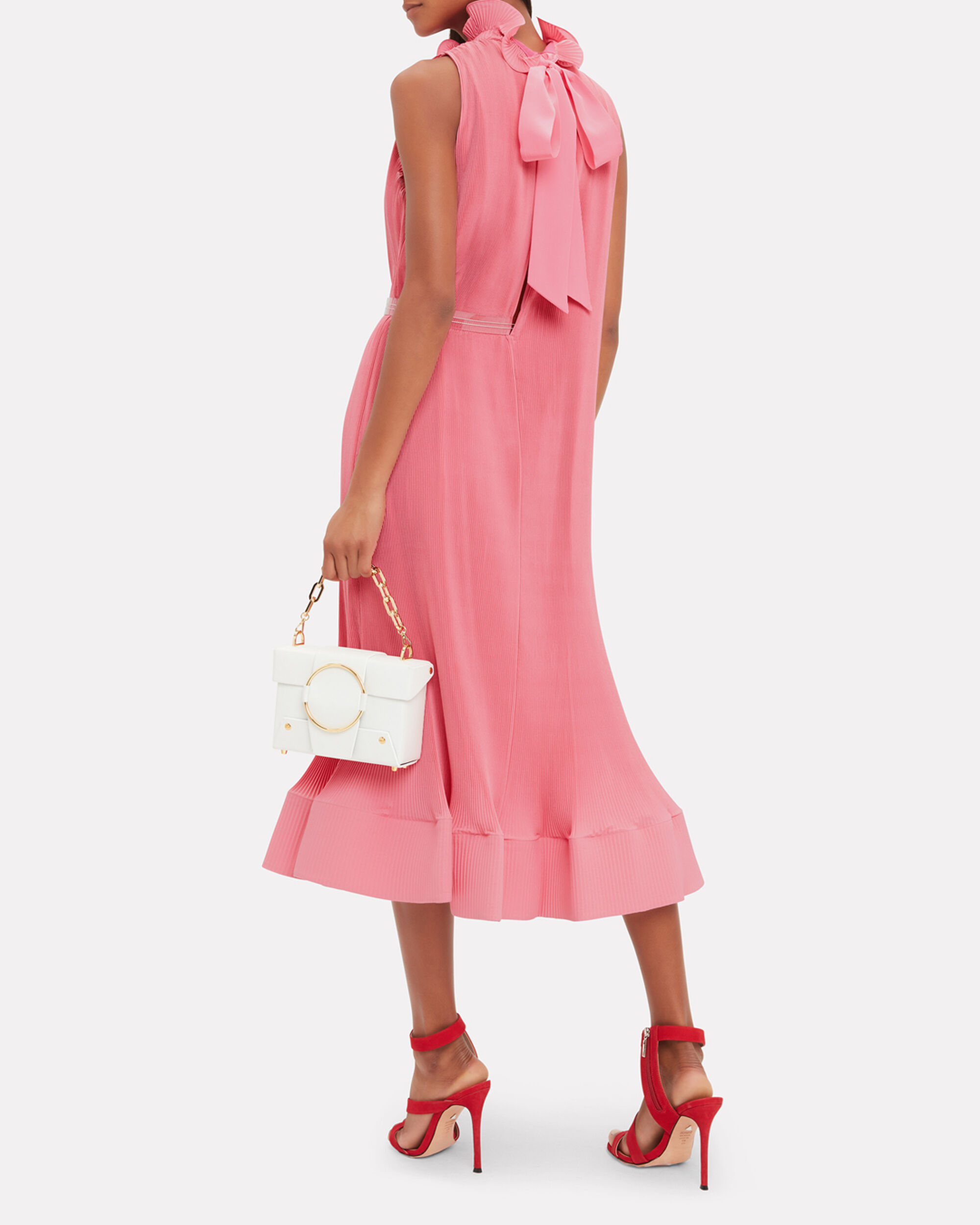 Pink Pleated Dress, PINK, hi-res