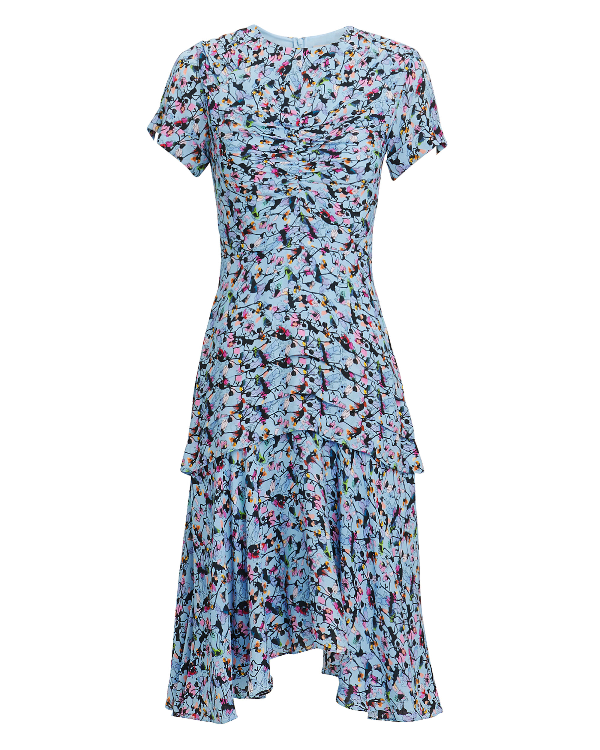 Floral Printed Dress, BLUE/FLORAL, hi-res