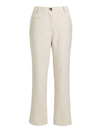 Finley Canvas Cropped Trousers, ECRU, hi-res