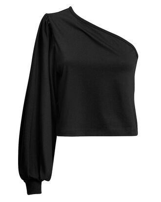 Stark Bare Shoulder Top, BLACK, hi-res