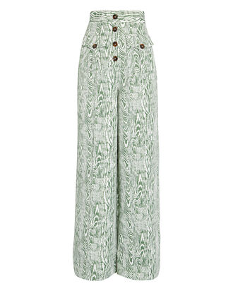 Energised Wide-Leg Pants, WHITE/GREEN, hi-res
