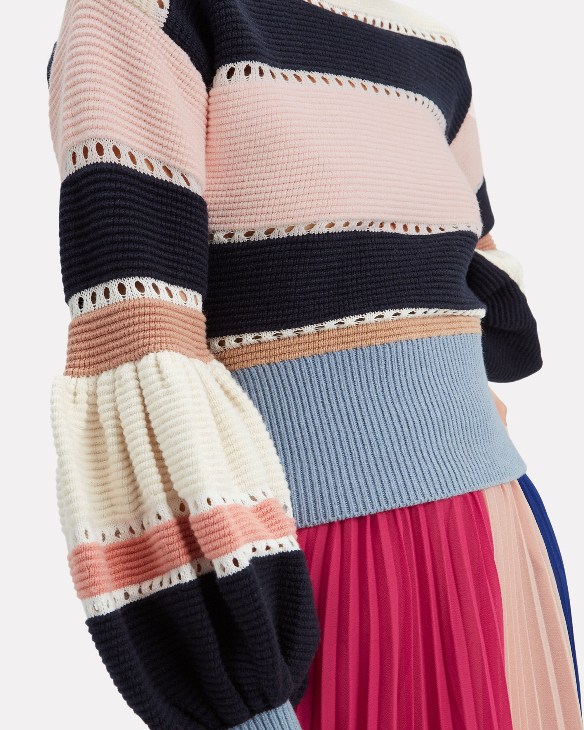 Striped Cotton & Wool Knit Sweater, MULTI, hi-res