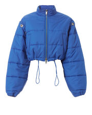 Blue Puffer Ski Coat, BLUE, hi-res