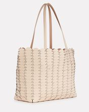Pacoio Leather Tote Bag, IVORY, hi-res