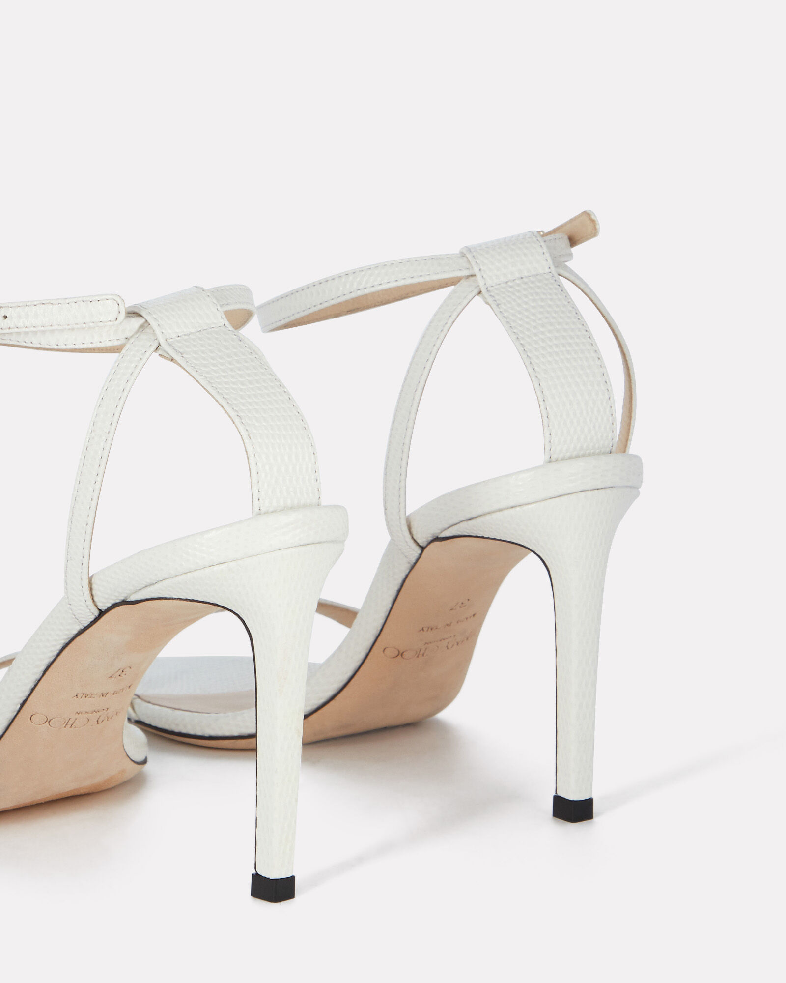 Minny 85 Leather Sandals, WHITE, hi-res