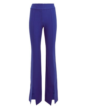 Maeve Flared Slit Hem Trousers, INDIGO, hi-res