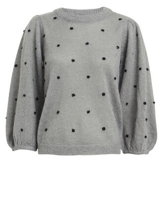 DionnaGZ Polka Dot Sweater, GREY, hi-res