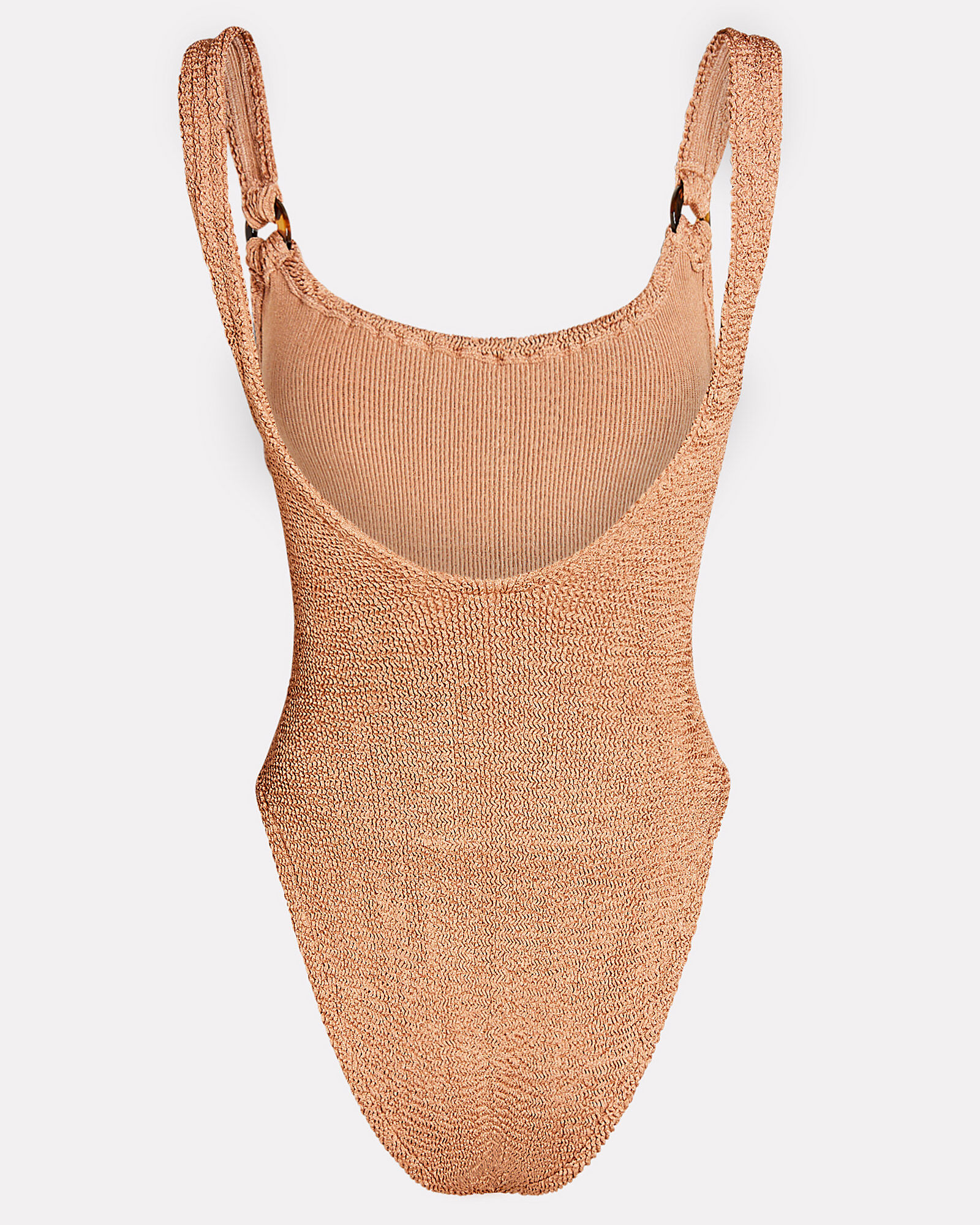Domino One-Piece Swimsuit, BROWN, hi-res