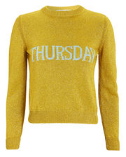 Thursday Gold Lurex Sweater, GOLD, hi-res
