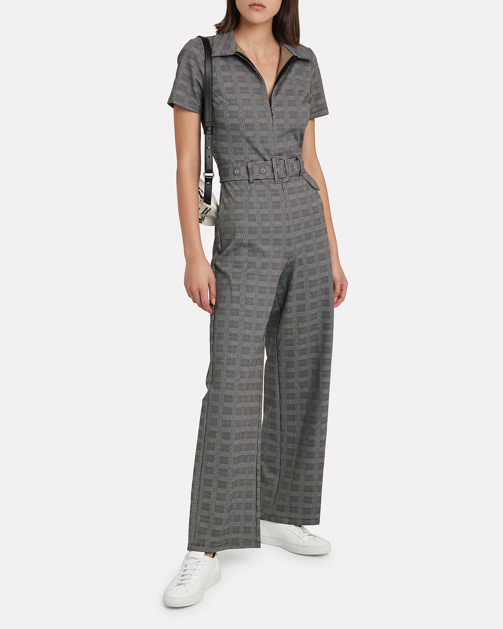 Peta Glen Plaid Boiler Jumpsuit, MULTI, hi-res