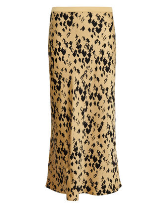 Bar Silk Leopard Skirt, MULTI, hi-res