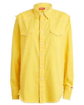 Cowboy Cotton Twill Shirt, YELLOW, hi-res